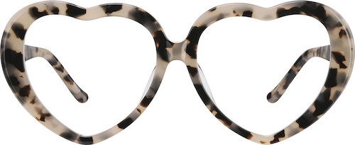 Ivory Tortoiseshell Heart-Shaped Glasses
