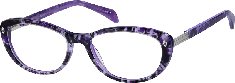 3775111e8e11 Purple Cat-Eye Glasses  4420517