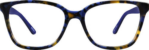 Blue Multi Square Glasses