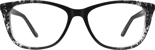 Black Lace Square Glasses