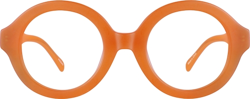 Orange Pico Round Sunglasses