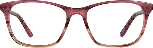 Red Pattern Square Glasses