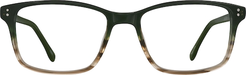 Gray Pattern Rectangle Glasses