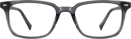 Dark Gray Rectangle Glasses