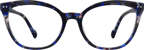 Blue Tortoiseshell Cat-Eye Glasses