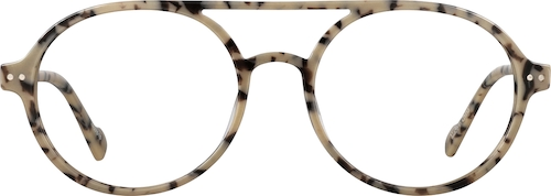 Cream Tortoiseshell Round Glasses