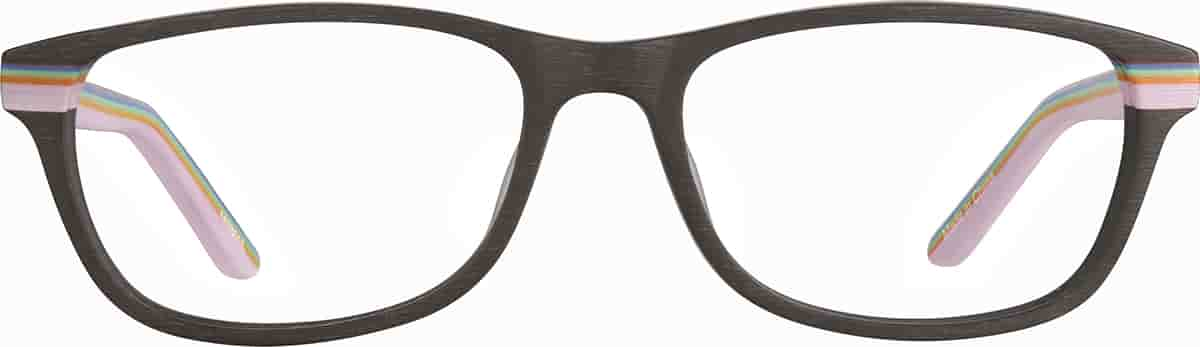 Brown/Pattern Kids' Rectangle Glasses