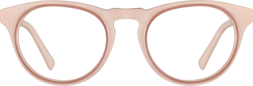 Pale Pink Round Glasses