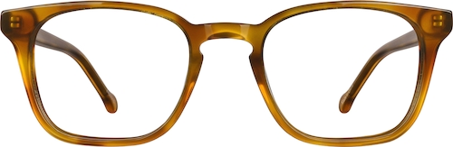 Amber Square Glasses