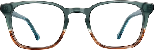 Emerald/Copper Square Glasses