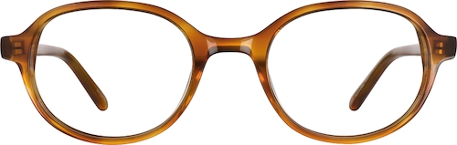 Butterscotch Oval Glasses