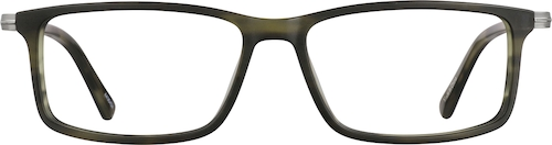 Olive Rectangle Glasses