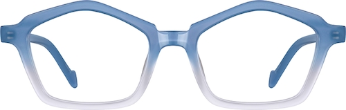 Sky Blue Geometric Glasses
