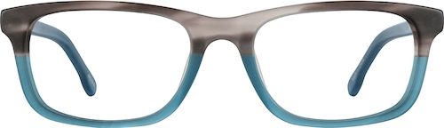 Gray/Blue Kids' Rectangle Glasses