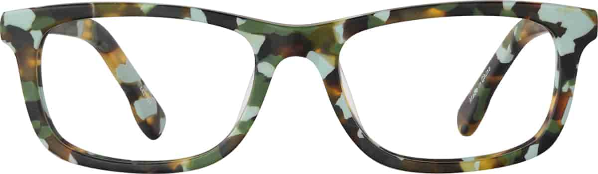 Camouflage Kids' Rectangle Glasses