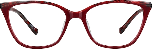 Red Cat-Eye Glasses