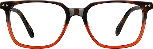 Tortoiseshell/Red Square Glasses
