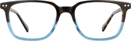 Tortoiseshell/Blue Square Glasses
