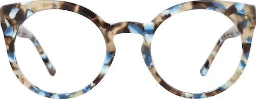 Blue Tortoiseshell Round Glasses