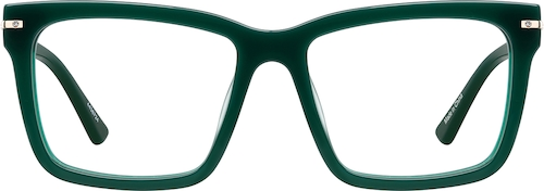 Evergreen Square Glasses