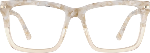 Cream Square Glasses