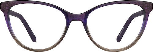 Amethyst Cat-Eye Glasses