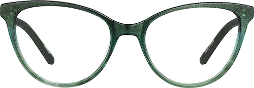 Emerald Cat-Eye Glasses