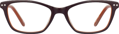 Chocolate Kids' Cat-Eye Glasses
