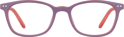 Lilac Kids' Rectangle Glasses
