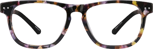 Purple Tortoiseshell Create Kids' Square Glasses