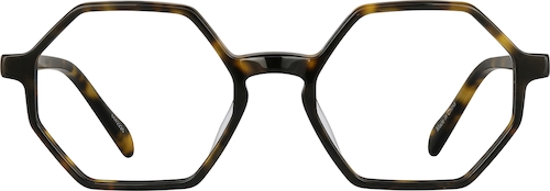 Tortoiseshell Geometric Glasses