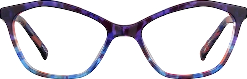 Deep Purple Geometric Glasses