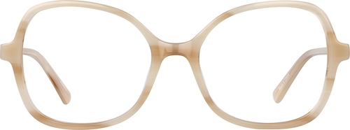 Ecru Cat-Eye Glasses