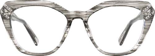 Cloud Gray Cat-Eye Glasses