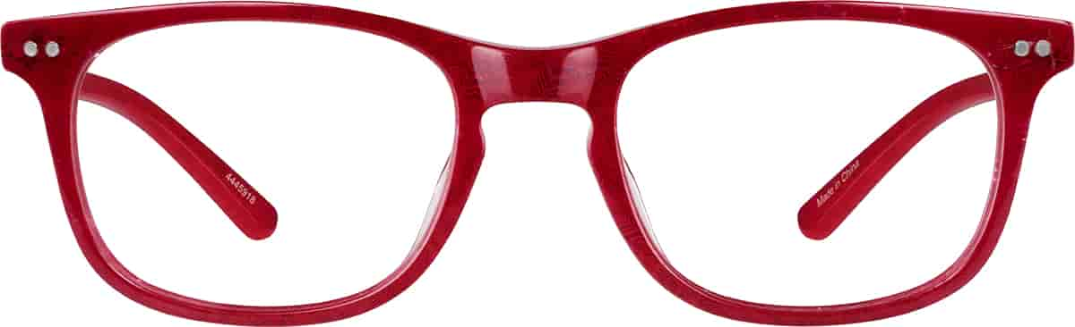 Red Tootsie Rectangle Glasses