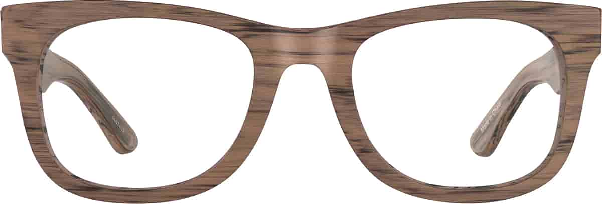 Wood Texture Square Glasses