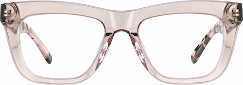 Blush Square Glasses
