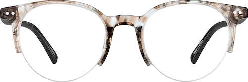Gray Marble Round Glasses