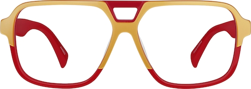 Red Aviator Glasses