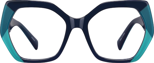 Navy Geometric Glasses