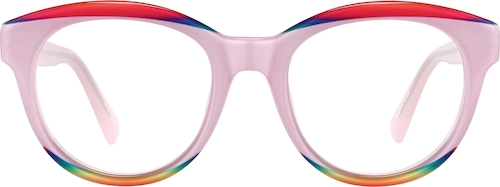 Pink Kids' Round Glasses