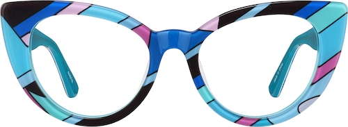 Blue Kids' Cat-Eye Glasses