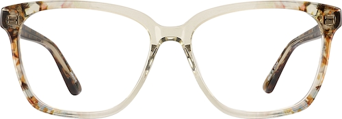 Beige Square Glasses