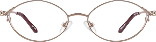 Brown Oval Glasses