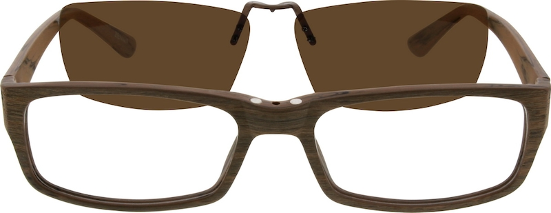 ed70c509b2 Brown Acetate Full-Rim Frame with Polarized Magnetic Snap-on Sunlens ...