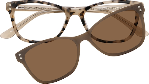 Tortoiseshell Cat-Eye Magnetic Snap-On Set