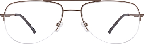 Brown Titanium Aviator Glasses