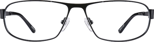 Black Titanium Oval Glasses