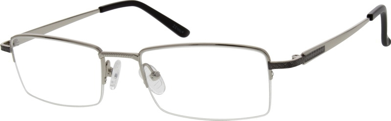 b5c0d036c9 Silver Titanium Rectangle Glasses  524411