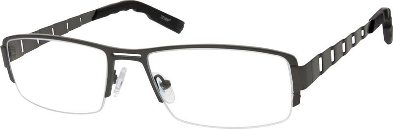 709398afda Gray Titanium Rectangle Glasses  526712